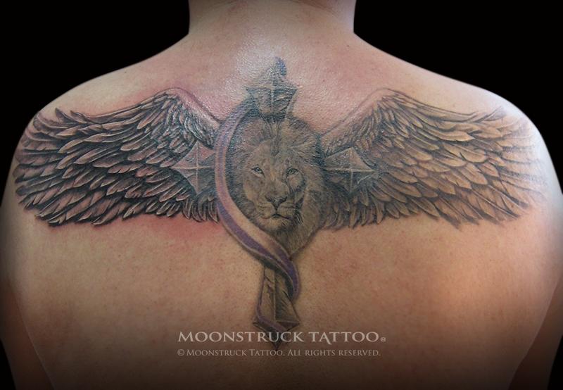 Winged lion tattoo - photo#1