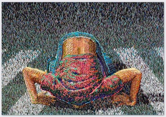 Federico Uribe pinturas feitas com lápis Zebra