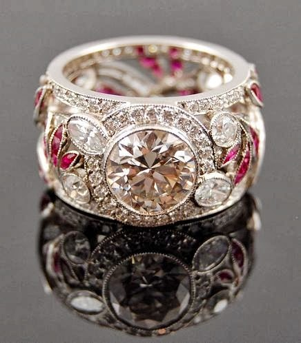 The Most Amazing Platinum, Diamond and Ruby Ring