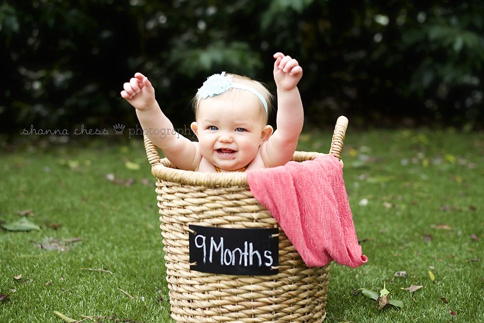 Eugene, OR Baby photography basket