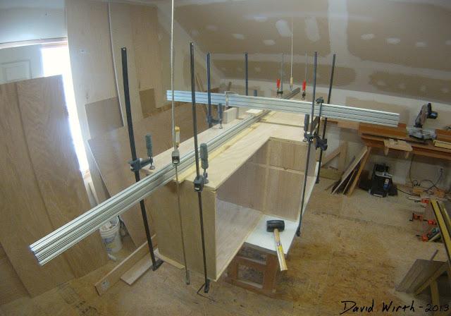 how long to clamp wood glue, shelf, cabinet