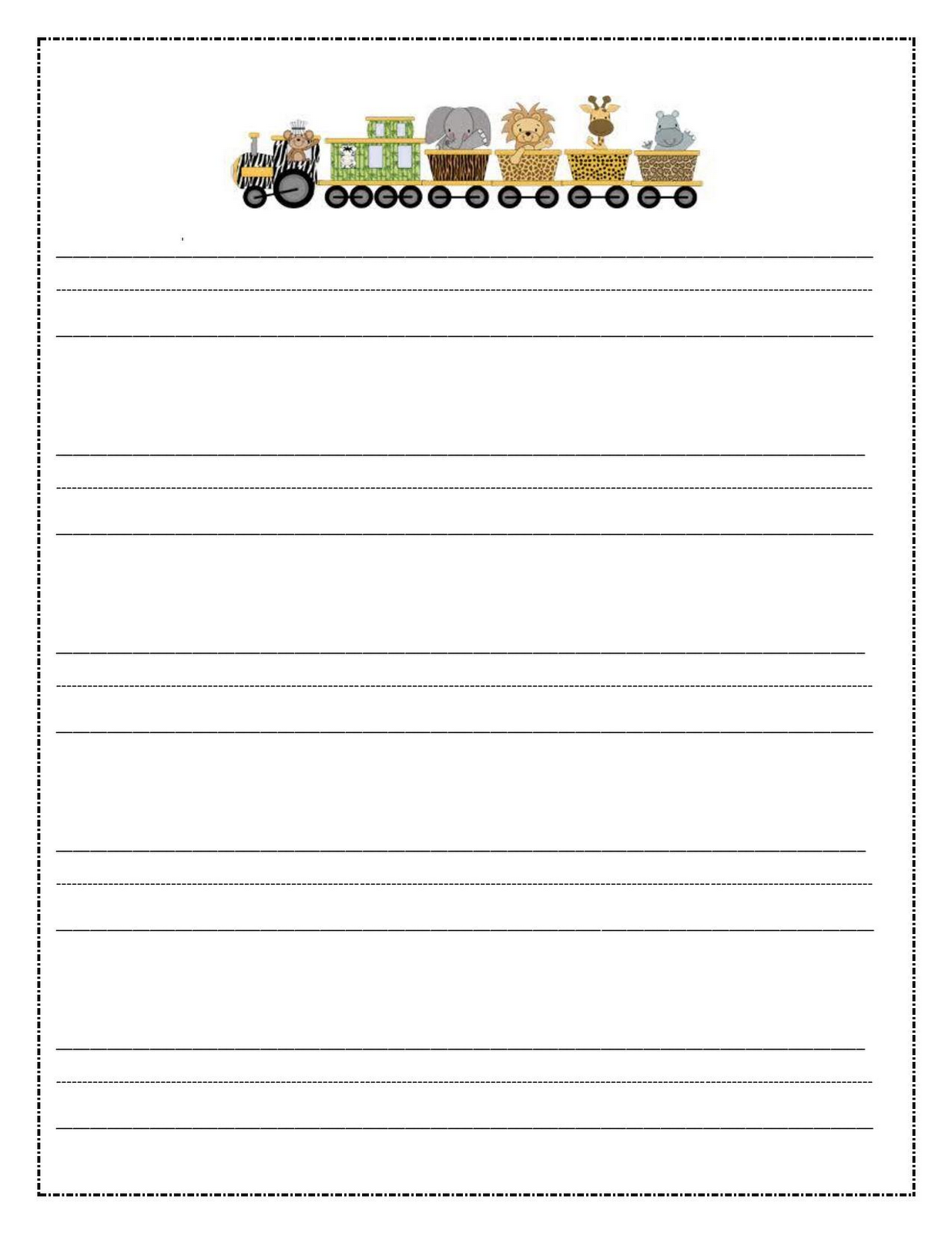 kids writing paper template
