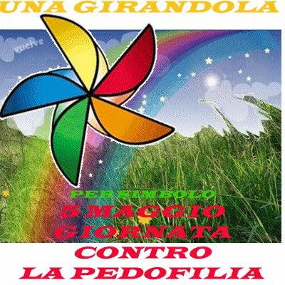 Giornata contro la pedofilia e girandola