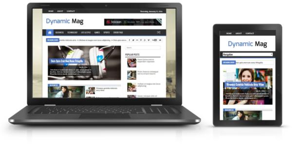 Dynamic Mag Templale thích hợp làm site tin tức