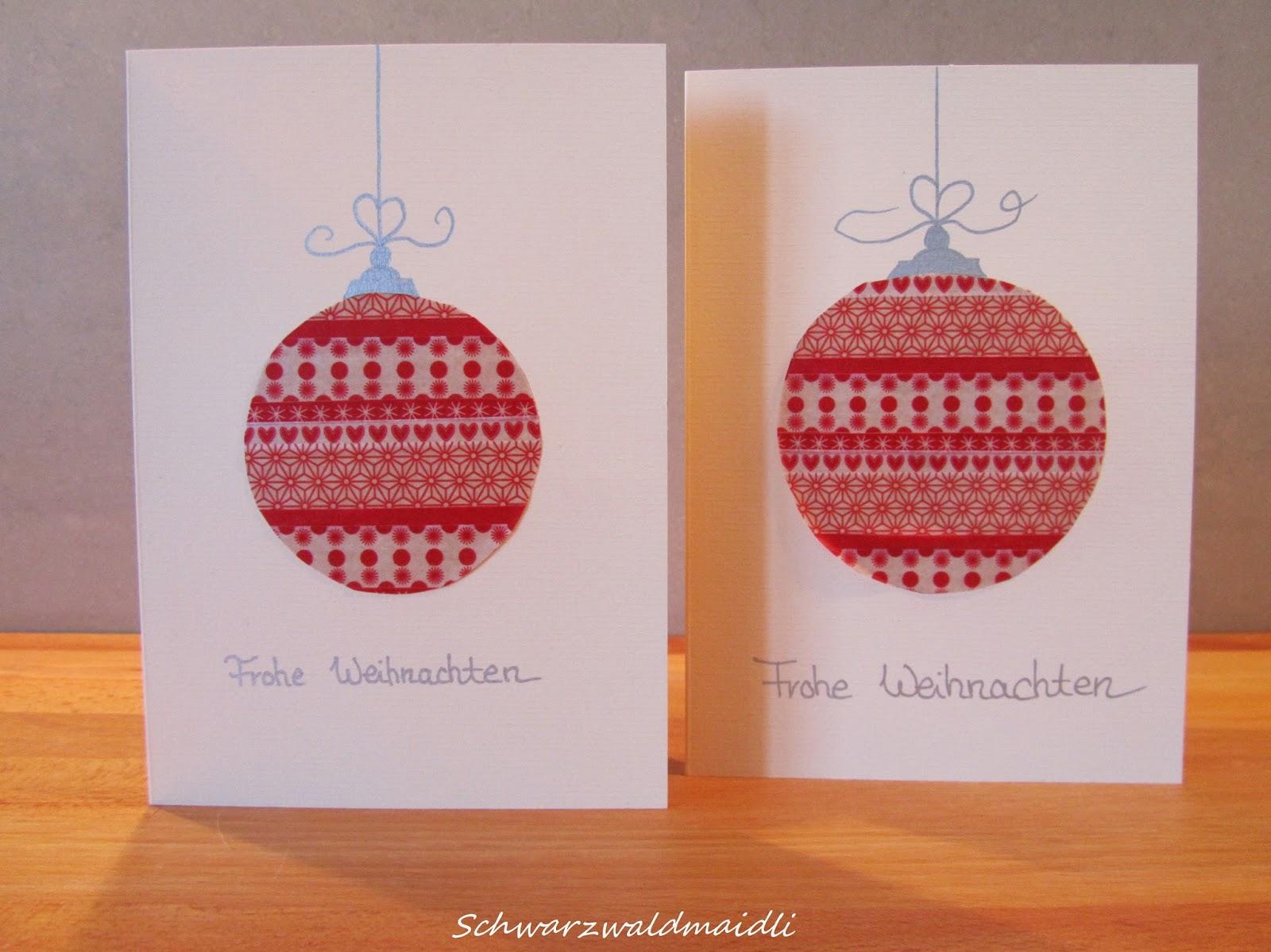 schwarzwaldmaidli diy weihnachtskarten mit masking tape. Black Bedroom Furniture Sets. Home Design Ideas