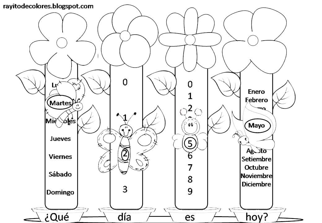 cartel calendario mariposas