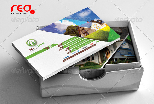 Top 10 best real estate business cards templates graphicbattle download real estate business card template wajeb Choice Image