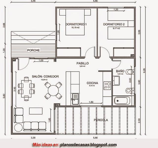 Plano de casa de madera de 79 m2 planos de casas gratis for Planos de madera