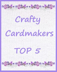 So pleased to have been chosen at Crafty Cardmakers