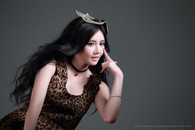 1 Han Ga Eun - Leopard Girl -Very cute asian girl - girlcute4u.blogspot.com