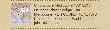 MEDJUGORJE chronologie 1981-2017