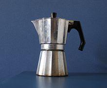 Cafetera italiana preparar café