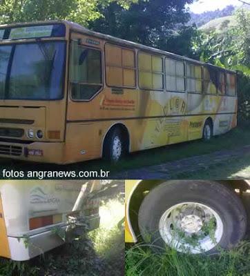Ônibus do Teclar Itinerante abandonado