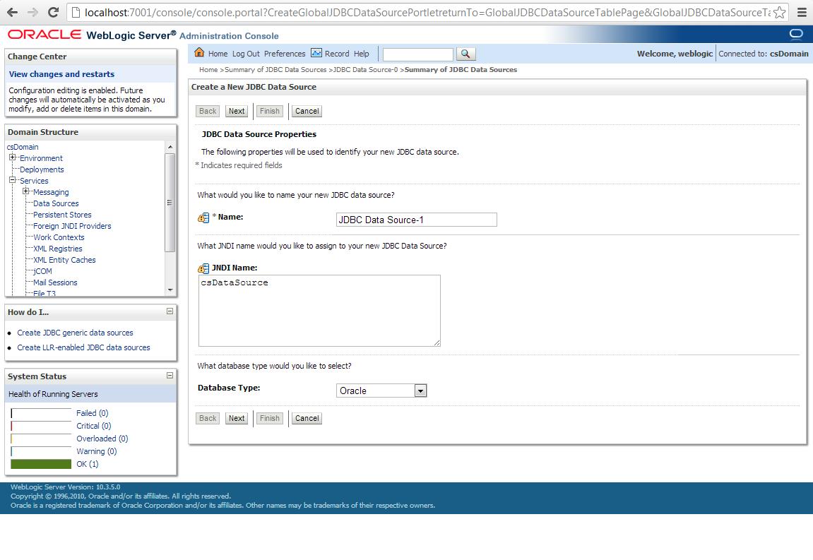 Create and configure a data source in weblogic server for create and configure a data source in weblogic server for webcenter sites baditri Images
