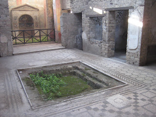 The open courtyard of a Pompeii home.