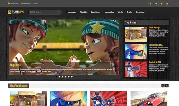TubeMag, responsive, blogger, tempkate, chia sẻ, theme, giao diện, video