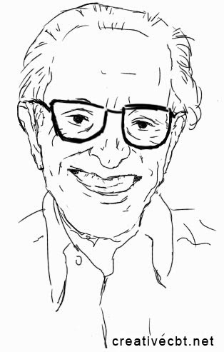 Albert Ellis sketch - famous psychotherapists - older - done on a Galaxy Note II