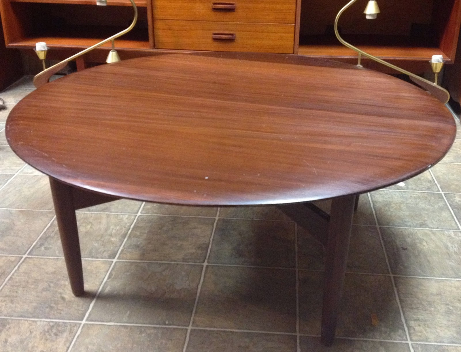 Time capsule now sold solid teak round coffee table Solid teak coffee table