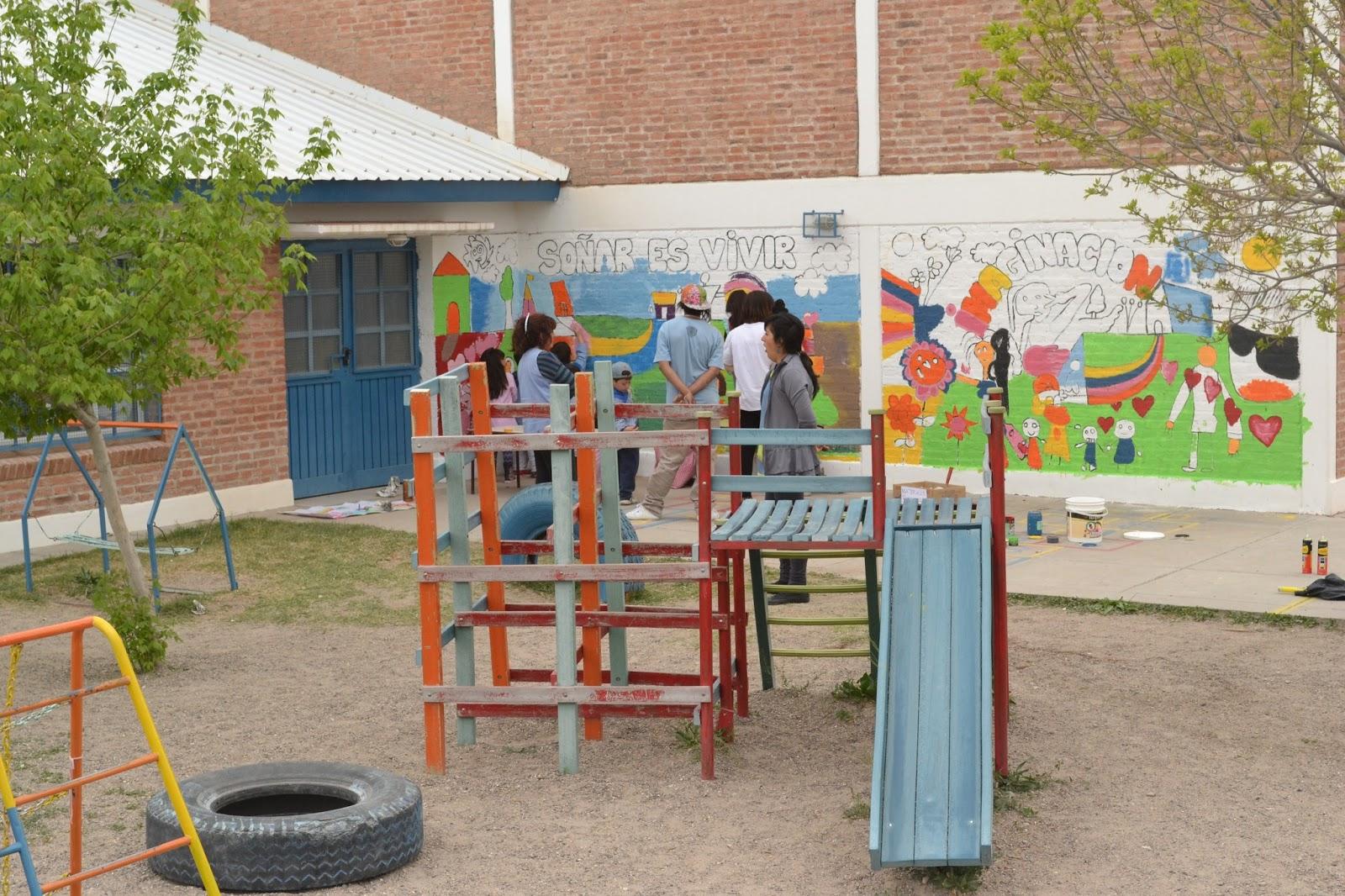 Educacion en el nivel inicial mural en el jard n 76 for Jardin 76