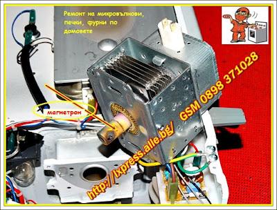 Изгорял магнетрон, магнетрон, ремонт на микровълнови