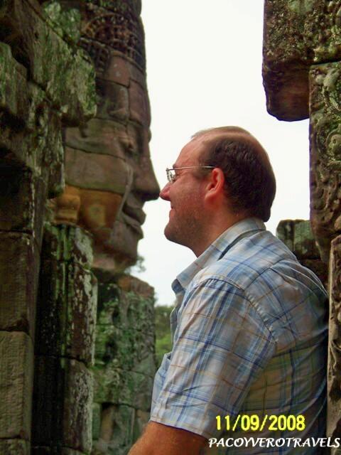 Nariz con nariz en los templos de Bayon