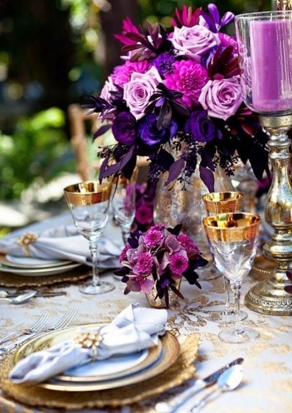 Purple and gold wedding ideas stuff