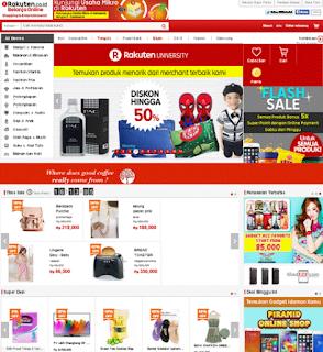daftar situs belanja online terpercaya rakuten.co.id