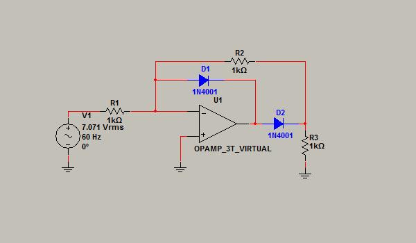 Circuito Rectificador : Circuito rectificador de media onda circuitos