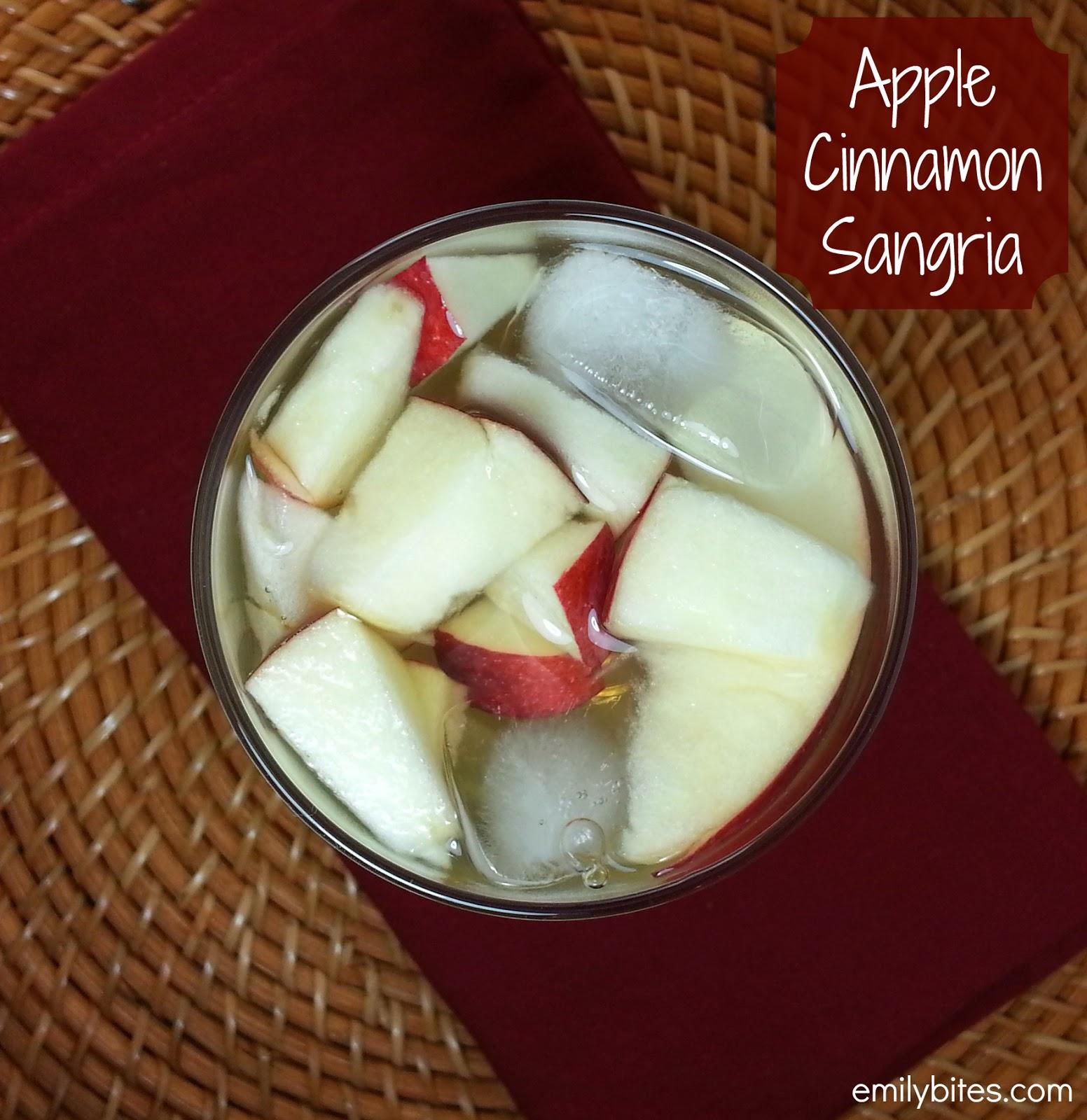 Apple Cinnamon Sangria - Emily Bites