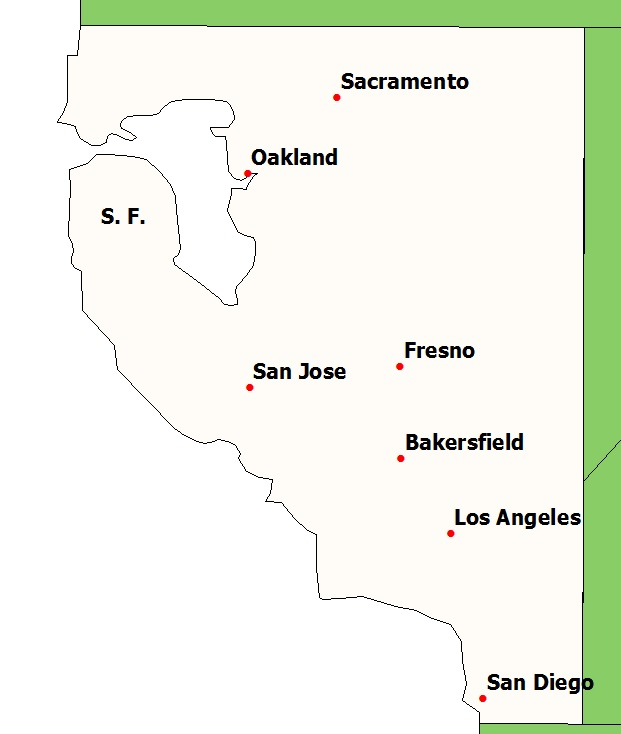 Map of the Week California Rail Map