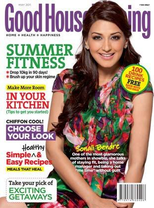 Sonali Bendre - Sonali Bendre on Good Housekeeping Magazine Cover May 2011 Edition