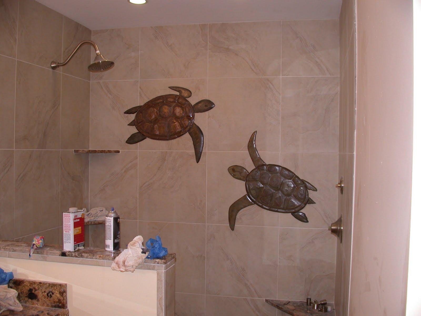 Makena tile murals shower wall mural installation options for Bathroom mural tiles