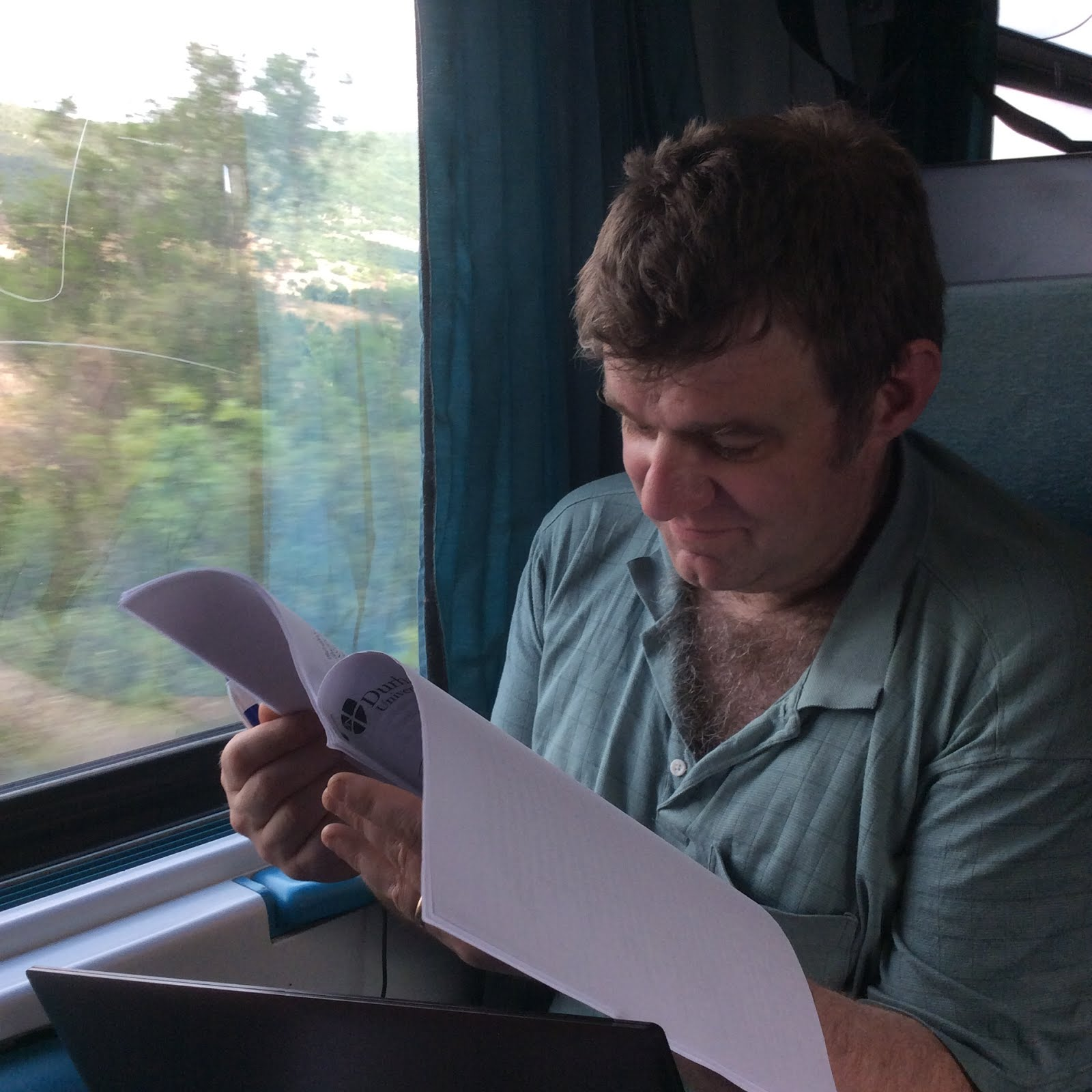 On the Thessaloniki-Athens Train, June 2015
