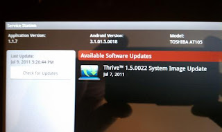 Update for Toshiba Thrive