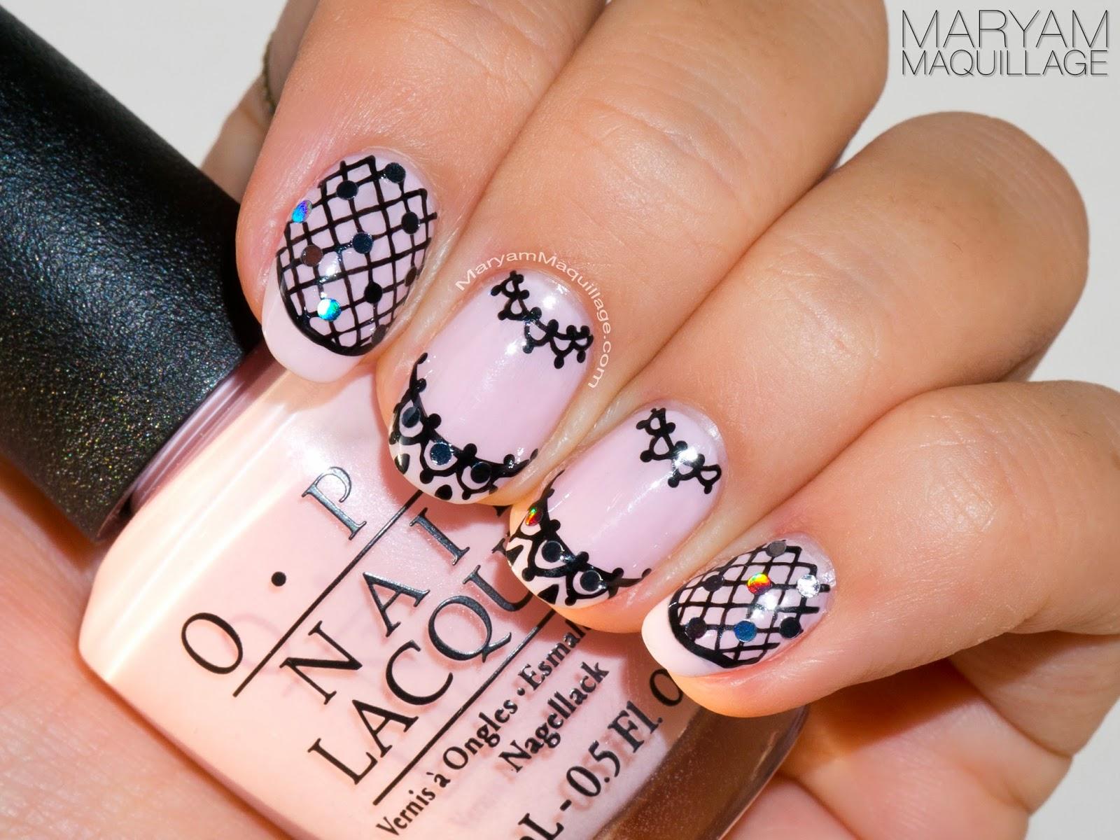 Maryam Maquillage Pink Lace Nail Art