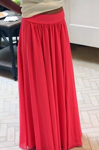 Chiffon maxi skirt pattern