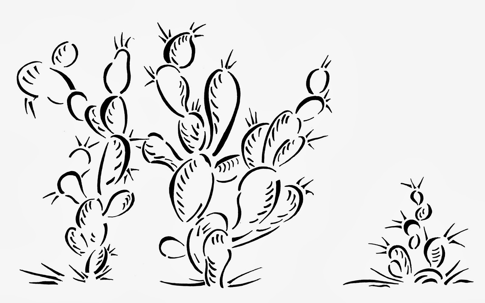 emejing prickly pear cactus coloring page photos printable