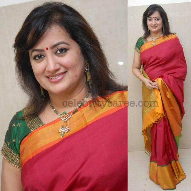 Sumalatha Red Pattu Saree