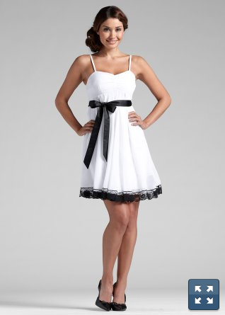 Robe de soiree blanche noire