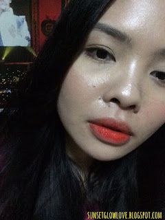 Peripera Peri's Tint Marker Orange Stain lip swatch
