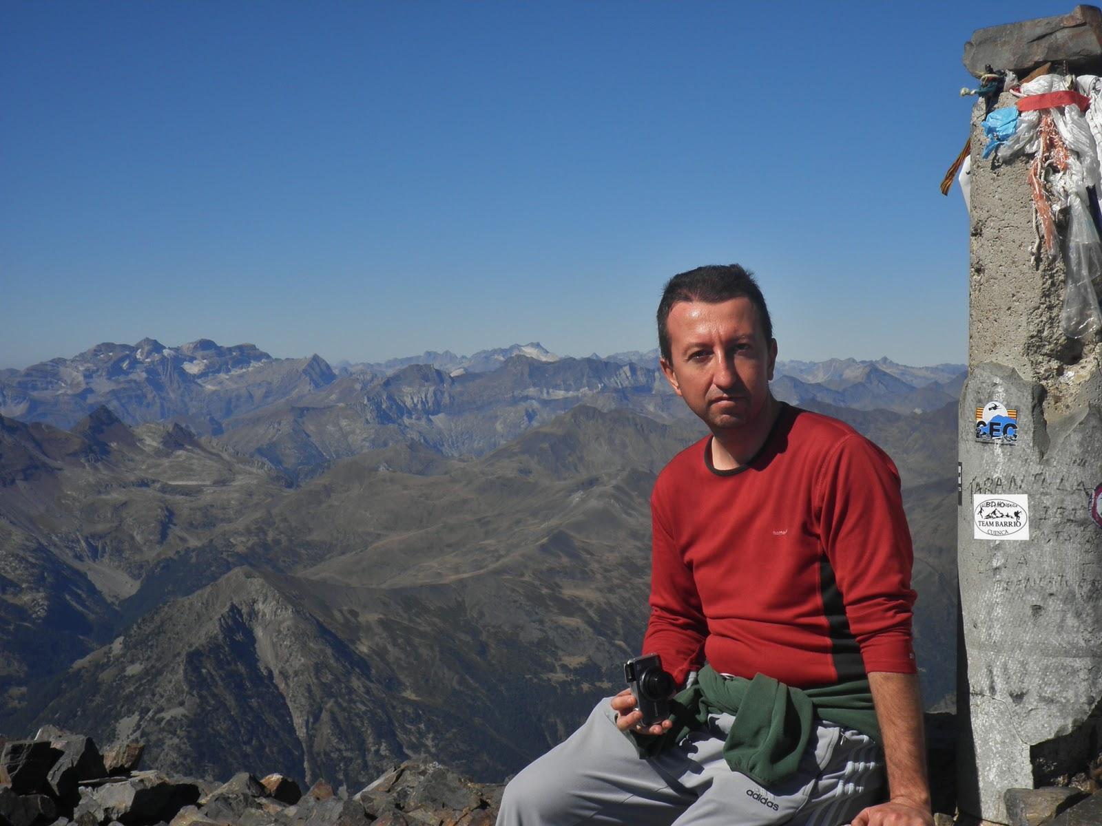 Monte Perdido desde la cresta del Posets