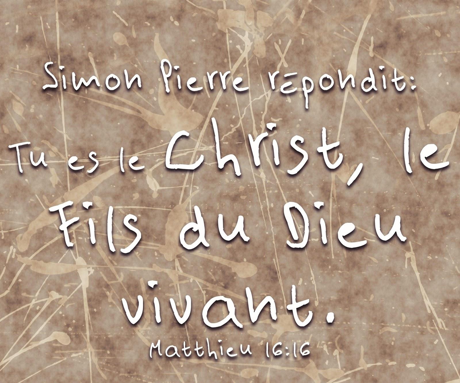 """Résultat de recherche d'images pour """"« Tu es le Christ. le Fils du Dieu vivant »"""""""