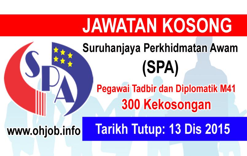Jawatan Kerja Kosong Suruhanjaya Perkhidmatan Awam (SPA) logo www.ohjob.info disember 2015