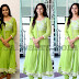 Shree Divya in Green Salwar Kameez