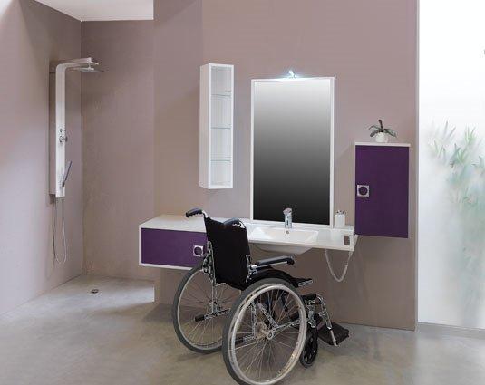 Aqualys burdin bossert prolians besancon meuble de salle de bain pmr gaia cedam - Plan salle de bain handicape ...