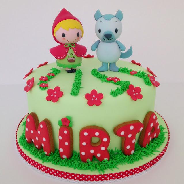 tarta decorada fondant caperucita