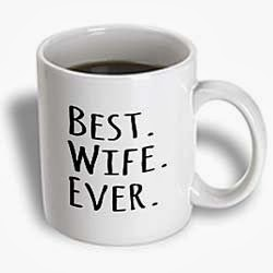 InspirationzStore Typography - Best Wife Ever - fun romantic married wedded love gifts for her for anniversary or Valentines day – Mugs