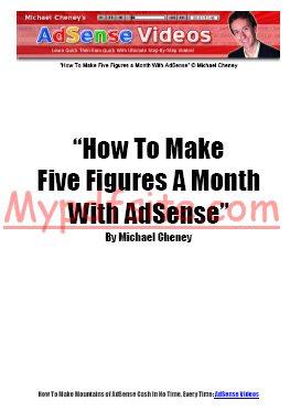 Make Money With Adsense By Michael Cheney