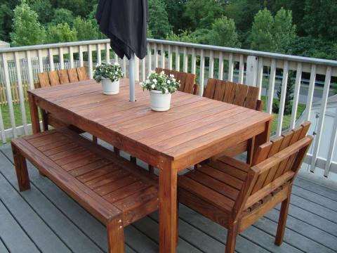 Make Your Own Outdoor Wood Dining Table | Wooden Tables