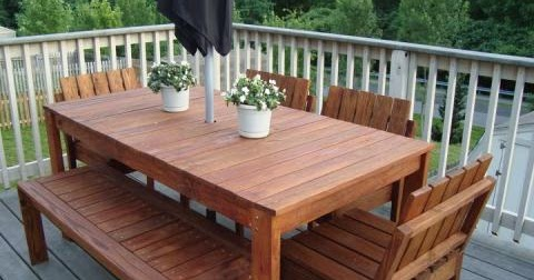 wooden tables make your own outdoor wood dining table. Black Bedroom Furniture Sets. Home Design Ideas